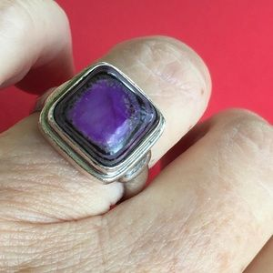 Sugilite 925 Silver Ring Size 7 1/2